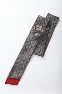 コサージュ付きロングスカーフ